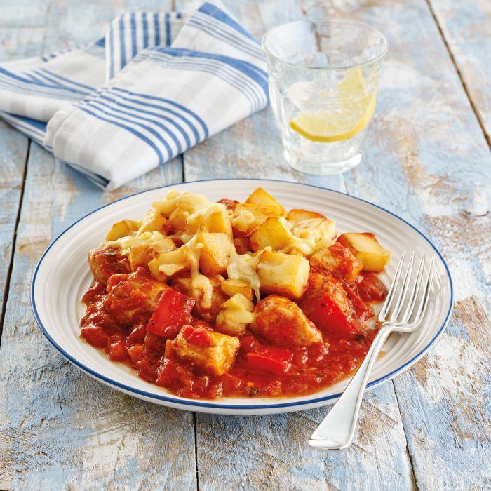 Spanish Style Chicken and Potato Gratin