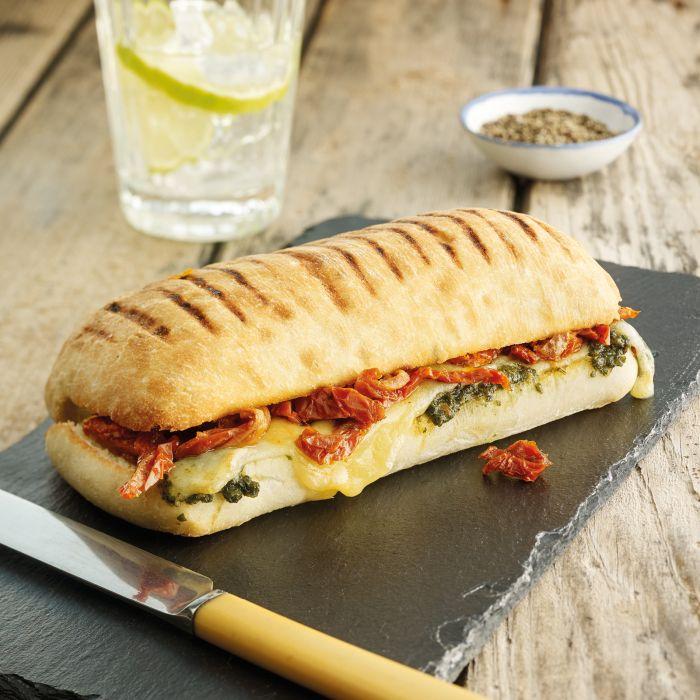 Mozzarella, Tomato & Pesto Panini