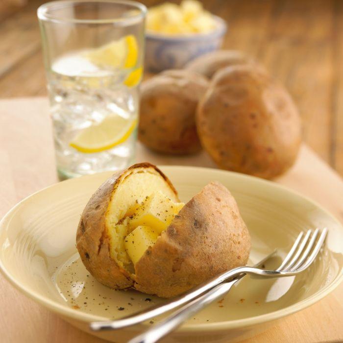 Jacket Potatoes (Servings 4)