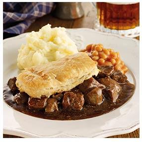 Beef & Kidney Pie | Oakhouse Foods