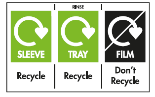 on-pack recycling labelling for Oakhouse foods